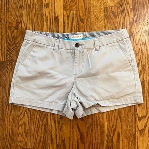 """Merona 100% cotton chino cotton 3"""" gray shorts"""